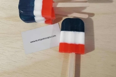 Red, White and Blue Popsicle Soaps!