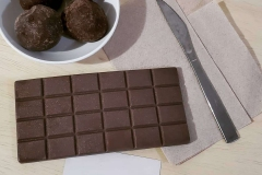 Break apart a piece of this homemade Chocolate Bar Soap!