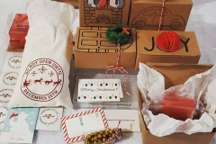 Pretty packaging for Christmas gift giving with Eunique Soaps!